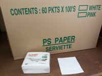 PS Serviette Plain White Pulp (6,000 pcs)