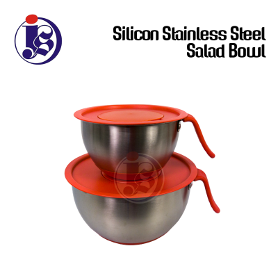 Silicon Stainless Steel Salad Bowl