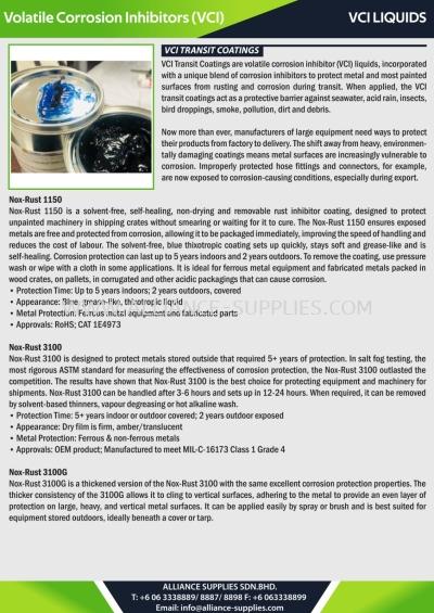 VCI Liquids - VCI Transit Coatings