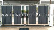 6ft Height Stainless Steel Folding Gate With Aluminium Panels  Stainless Steel Gate With Aluminium Panel