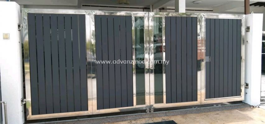 6ft Height Stainless Steel Folding Gate With Aluminium Panels