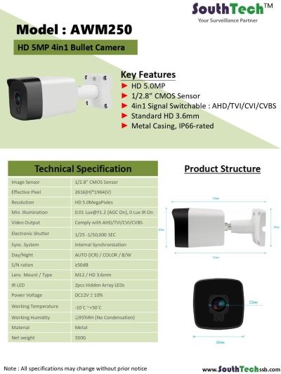South Tech CCTV Camera -   AWM250