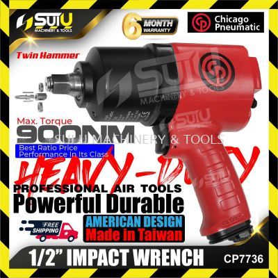 CHICAGO PNEUMATIC CP7736 Air IMPACT WRENCH AMERICAN DESIGN Twin hammer mechanism and steel motor Mad