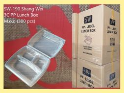 SW-190 Shang Wei 3C PP Lunch Box M.o.q (300 pcs)
