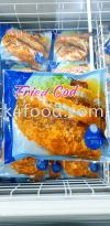 Fried Cod Fish - 3 pieces - 300g  Frozen Seafood