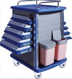 LM ABS Double Drawers Medicine Drug Cart MN-DC02