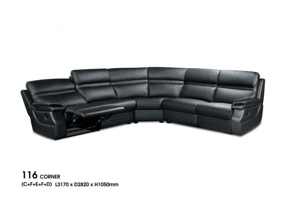 116 Conner  Leather  Sofa
