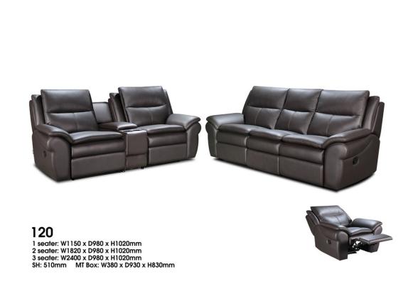 120 1+2+3  Leather Sofa
