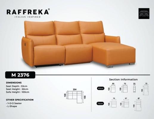 2376 Leather Sofa