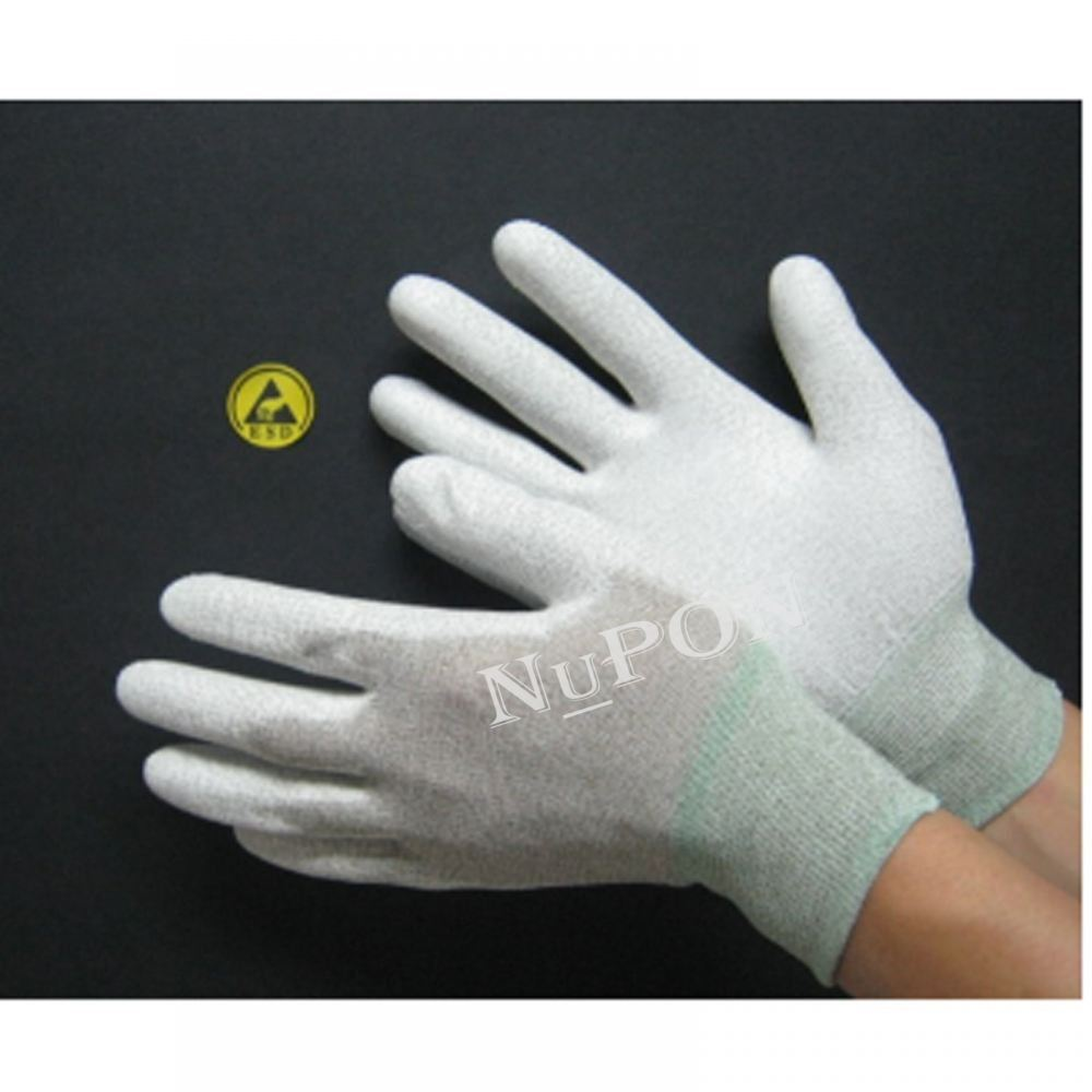 Conductive PU Palm Coated Gloves