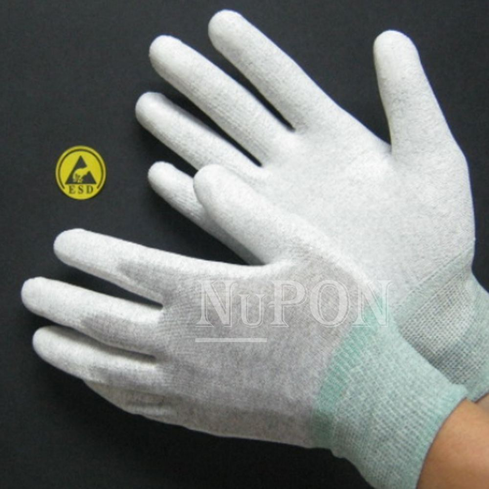 Carbon Knitted PU Palm Coated Gloves