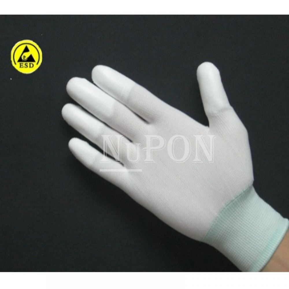 ESD Pu fingertips Coated Gloves