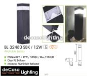 OURDOOR BOLLARD 800MM 12W LED 1P65
