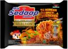 Limited Edition Mi Sedaap Mi Segera Instant Fried Noodles Korean Spicy Chicken 5 x 87g Mi Sedaap Groceries