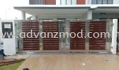 Stainless Steel Gate With Aluminium Panels  Stainless Steel Gate With Aluminium Panel