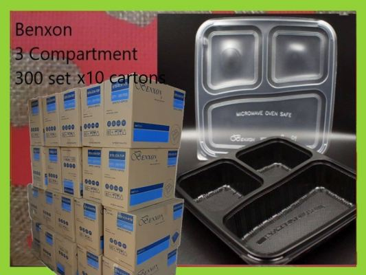 Benxon 3 Compartment M.o.q (3,000 set)