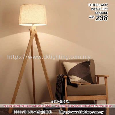 CK LIGHTING FLOOR LAMP WOOD STRAIGHT (TDC-FL-6423 (L8001)