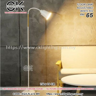 CK LIGHTING FLOOR LAMP ADJUSTABLE WHITE (XGX-FL-612-WH)