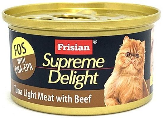 72527E SUPREME DELIGHT TUNA LIGHT MEAT with BEEF 85g
