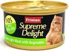 72519E SUPREME DELIGHT TUNA LIGHT MEAT WITH VEGETABLES 85g Supreme Delight  Frisian