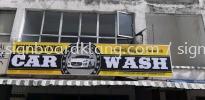 car wash 3d aluminum box up lettering led frontlit signage signbaord at klang sentosa  3D LED SIGNAGE