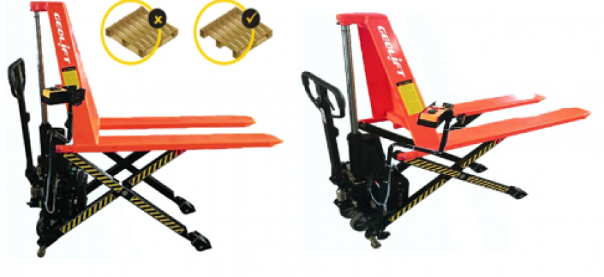 1.5 tons GEOLIFT Automatic Electric Scissor Lift Pallet Truck-AESLP15(Germany Hydraulic Pump System)
