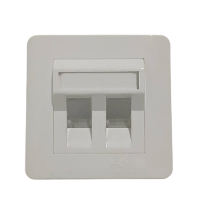 A - 45�� DOUBLE PORT FACE PLATE