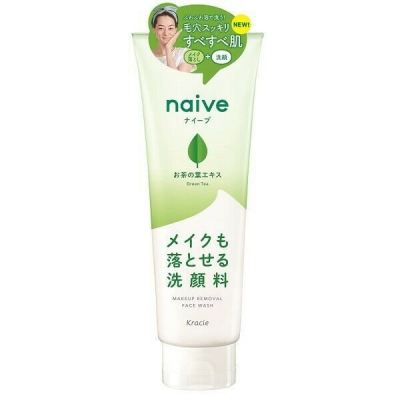 Kracie Naive Makeup Removal Face Wash 200g - Green Tea