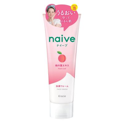Kracie Naive Face Wash 130g - Peach Leaf
