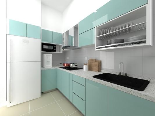 Glass Door Kitchen Cabinet Refer - FOREST  VILLE