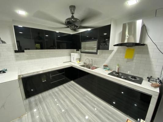Glass Door Kitchen Cabinet Refer - BATU KAWAN