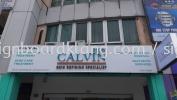 calvin aluminum box up 3d led frontlit lettering signage signboard at klang selangor 3D BOX UP LETTERING