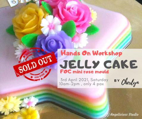 Rainbow Colour Jelly Cake