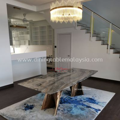 Luxury Italian Marble Dining Table | 8-10 Seaters