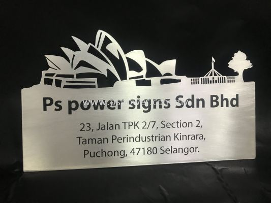 Aluminum Plate with Sticker Wording