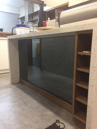 Wall kitchen mirror ( grey and clear)