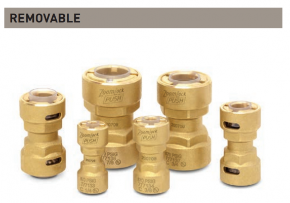 "ZoomLock Push Removable Couplings (1/2"")"