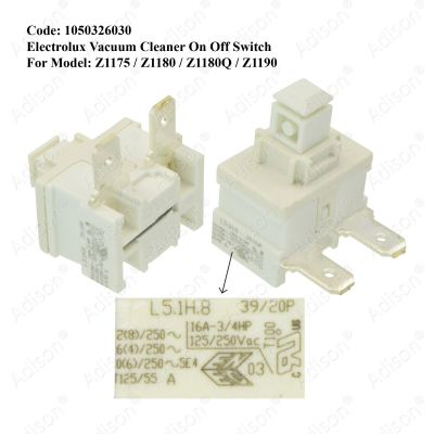 Code: 1050326030 Electrolux Vacuum Cleaner On Off Switch