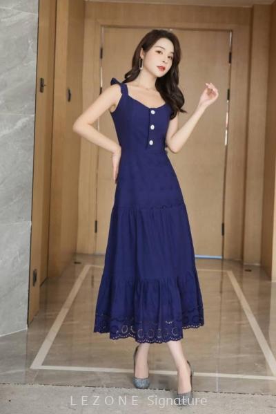 MZ6620 Laced Sleeveless Midi Dress