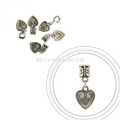 Dangle Charms, D04, Plated, 5pcs:pack