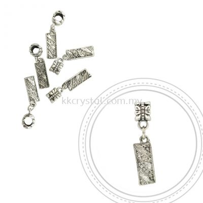 Dangle Charms, D20, Plated, 5pcs:pack