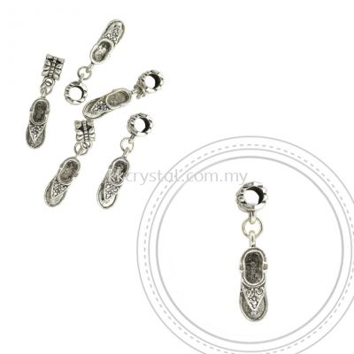 Dangle Charms, D24, Plated, 5pcs:pack