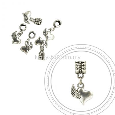 Dangle Charms, D07, Plated, 5pcs:pack