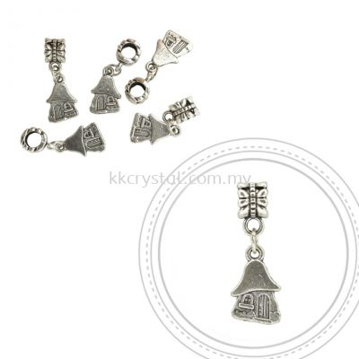 Dangle Charms, D13, Plated, 5pcs:pack