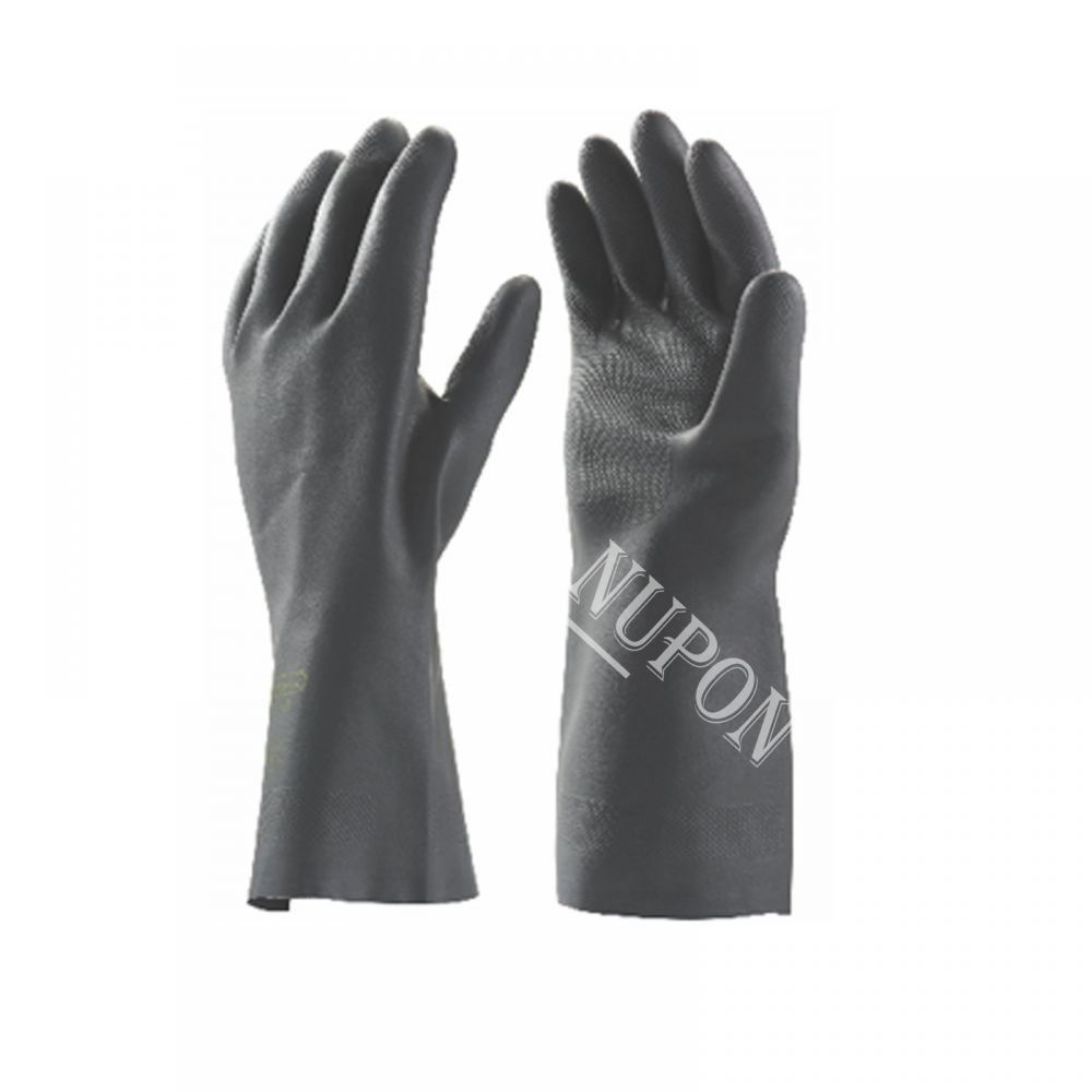 Heavy Duty Black Chemical Resistance Gloves - BK 39-18
