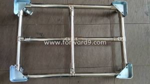 Stainless Steel Pipe & Joint Platform Trolley with Corner Metal