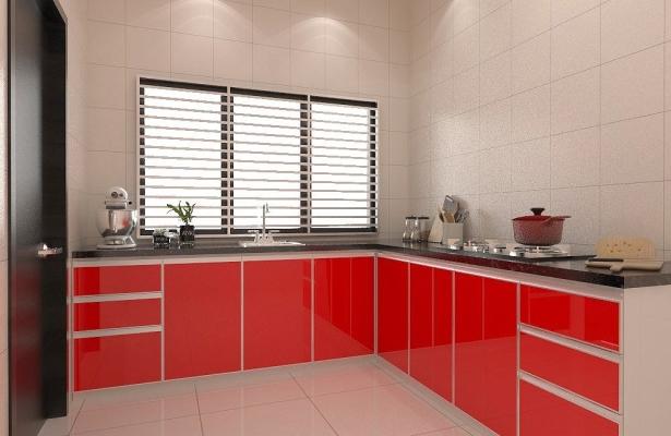 Real Samples of Aluminium Kitchen Cabinet In Selangor Area