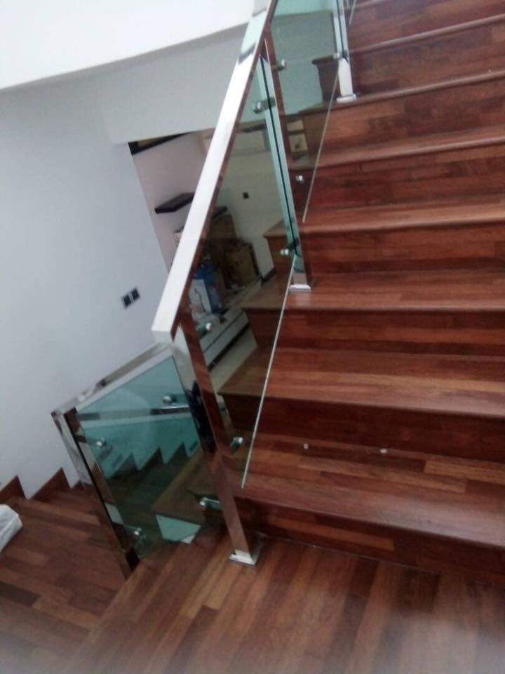 Sample Staircase Railing With Tempered glass Design In Selangor Staircase Handrail Staircase Malaysia Reference Renovation Design