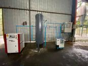 Small Capacity Screw Air Compressor System Piping Works
