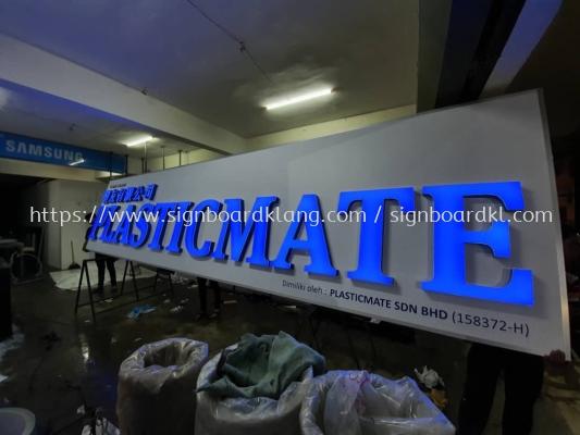 Plasticmate Aluminium Box Up 3D Led Frontlit Lettering Signage Signboard At Klang Kuala Lumpur